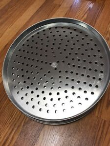 Six American Metalcraft Super Perforated 15 Pizza Pans Used