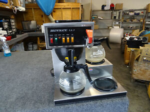 Brewmatic La3 Commercial Coffee Maker 3 Pot Warmer Pourover W Hot Water Tap