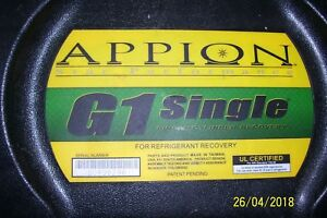 Appion G1 Recovery Machine missing A Filter Gasket