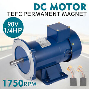 Dc Motor 1 4hp 56c Frame 90v 1750rpm Tefc Magnet Smooth Equipment Permanent