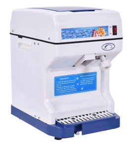 Electric Shaved Ice Machine Tabletop Snow Cone Maker Icy Drinks Commercial Home
