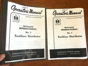 Mccormick International No 7 Fertilizer Distributor Operator s Manual 083