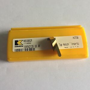 Kennametal Nrd3062r Kc730 Groove Inserts As Shown