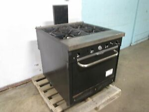 south Bend 1364 Hd Commercial nsf Natural Gas 4 Burners Stove range W oven