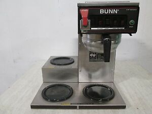 bunn Cwt 15 Hd Commercial nsf pour over automatic Coffee Brewer W 3 Warmer