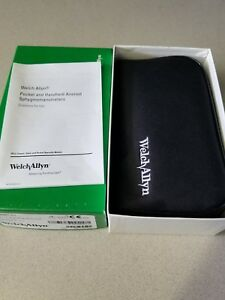 Welch Allyn 5090 41 Pocket Blood Pressure Gauge W Case Large Adult Cuff