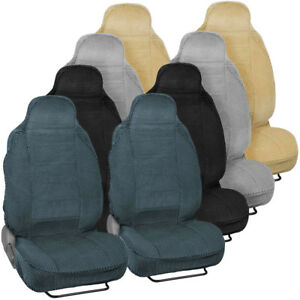 Durable Soft Front Car Seat Covers For High back Bucket Seats Auto Suv Vans