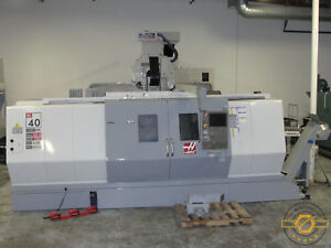 Haas Sl 40lbb Big Bore 7 W hyd Steady Rest 40 Swing Tail Stock Long Bed