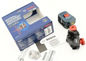 Bosch Laser Level Self leveling Cross line With Clamping Mount Gll2 New