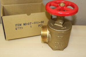 New Brass 2 1 2 Fire Hose Angle Valve B h Fig A97h