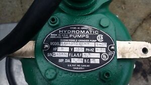 Hydromatic Submersible Grinder Pump 2hp Copper Alloy Nspg200 14 2