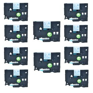 High Quanlity 10pk Blue On Clear Tz133 Tze133 Label Tape For Brother 12mm 0 47