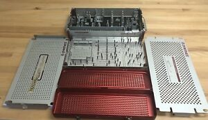 Synthes Empty Titanium Lc dcp dcp Storage Containers Lot Of 3 5362