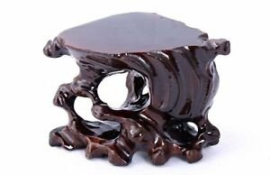 Hard Wood Crafted Tree Root Display Stand For Vase Teapot Bottle Netsuke Etc