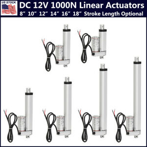14mm s Linear Actuator 12v Dc Electric Motor 220lbs Auto Lift Window Door Opener
