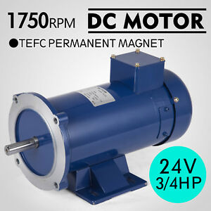 Dc Motor 3 4hp 56c Frame 24v 1750rpm Tefc Magnet Applications Grease Permanent