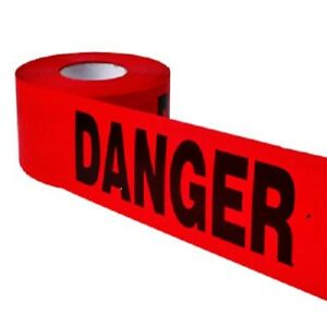 Danger Printed Barricade Red Tape 3 Mil 3 X 1000 4 Rolls 1 Case