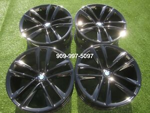 19 Bmw 740 750 Rims 750i 740i Wheels Rims Set Of 4 Black Oem Factory 20