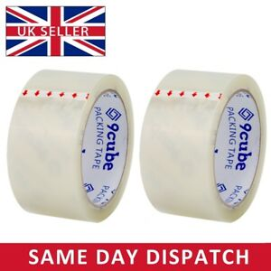 Clear Packaging Parcel Packing Tape Strong 48mm X 66m Cellotape Sellotape 6 12