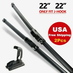 22 22 Windshield Wiper Blades Bracketless Oem Quality All Season Premium Usa