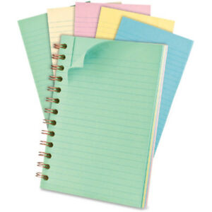 Pastel Wirebound Notebook 130 Sheets Fit Your Backpack Coat Pocket Purse Student