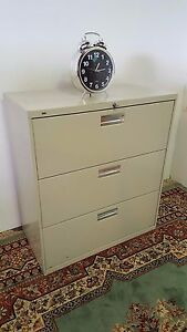 Lateral File Cabinet 36 Hon 683l high End 3 Drawer
