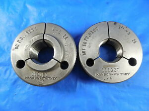 1 8 2a Thread Ring Gages 1 0 Go No Go P d s 9168 9100 Inspection Tooling