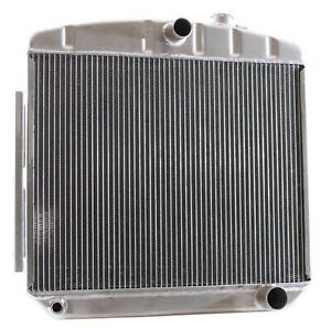 Griffin 6 00046 Aluminum Exact Fit Radiator For 55 56 Chevy V8 Mount