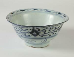 China Chinese Blue White Porcelain Bowl Qing Dynasty Ca 18 19th Century 2