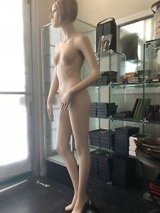 Female Realistic Full Body Mannequin Detailed Face Make up And Molded Hair