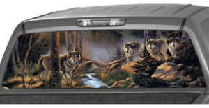 Wild Wolf Pack In The Forest Rear Window Graphic Decal Tint Suv Ute Truck Wrap