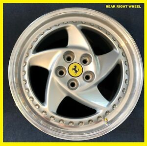 1 Single Oem Rear Ferrari 512m Speedline Wheel Rim 512tr Testarossa Right Mint