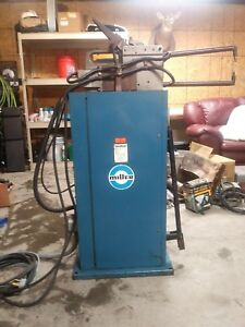 Miller Resistance Spot Welder Model Mps 10 W foot Pedal 230 V 45 Amps 60 Hz 2 2