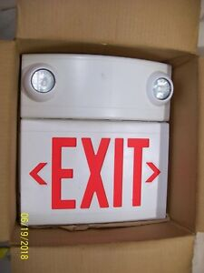New Pathway Led Exit Sign 2 Lighting Heads Red White Lepx Series Lep18x1cr