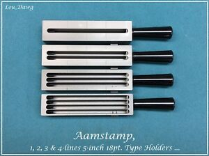 Aamstamp Machine 1 2 3 4 line 5 inch 18pt Type Holders