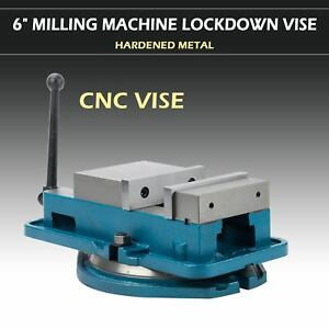 Hardened Drilling 6 Milling Machine Vise Lockdown Bench Clamp Clamping