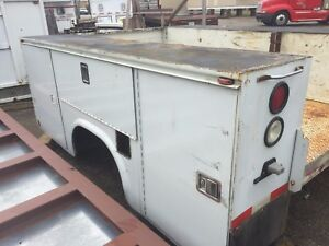 Utility Body Bed Box For Bucket Crane Service Truck 9 Ft 108 Long 8 Ft 96 W