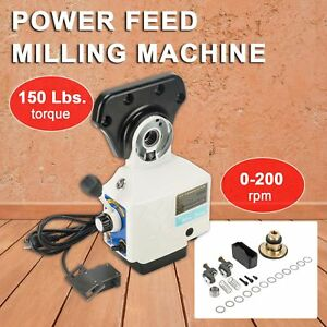 Pro 0 210prm Power Table Feed Mill Fits Bridgeport Acer 110v 150 Lb Torque