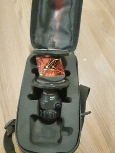 Leica Mpr122 360 Prism Survey Transit Reflector Tool W Case And Rod Adapter