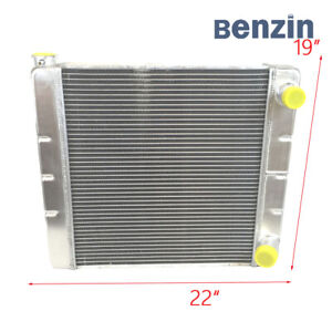 Universal 2 Row Double Pass Racing Aluminum Radiator For Chevy Gm 22 X19 X3