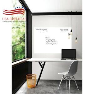 42 In X 54 In White Giant Dry Erase Decal Board Marker Calendar Home Office