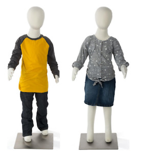 Set Of 2 Age 6 7 Bendable Pinnable Fabric Unisex Youth Child Mannequin Forms