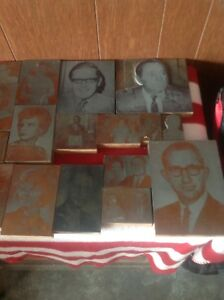 Lot Of 74 Vintage Letterpress Printers Block Copper Lead Printing Photos