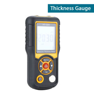 Ultrasonic Thickness Gauge 5mh Probe Tester Meter Measuring Tools Durable New