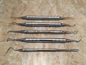 Lot Of Five 5 American Eagle Dental Hygienist Tools Pick Scaler Probe 6