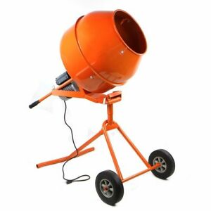 5cuft Portable Electric Concrete Cement Mixer Barrow Machine1 2hpmixingmortar H