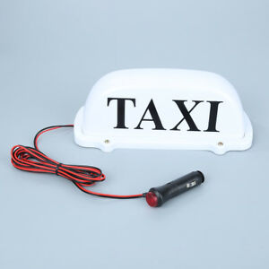 Dc 12v Taxi Cab Sign Roof Top Topper Car Super Bright Light Lamp Usa Shipping W1