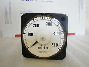 General Electric Model 8db 18a1aa2 D c Ammeter