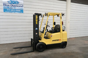 2003 Hyster Forklift S50xm 5 000 Lb Lift Lp Gas Three Stage Mast Mazda Engine