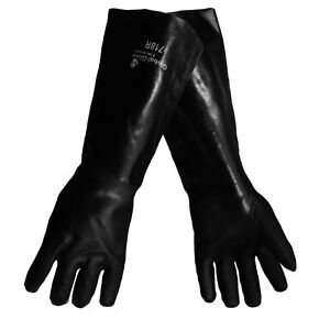 Global Glove 718r Jersey Lined Black Pvc 18 Elbow Length Gloves Xl 12 Pair